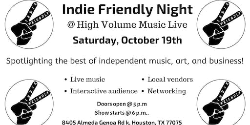$50 Vendor Fee Indie Friendly Night 10/19