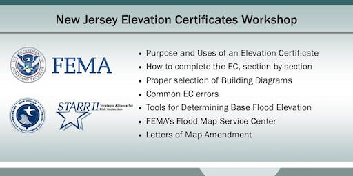 New Jersey  Elevation Certificates Workshop (Westampton)