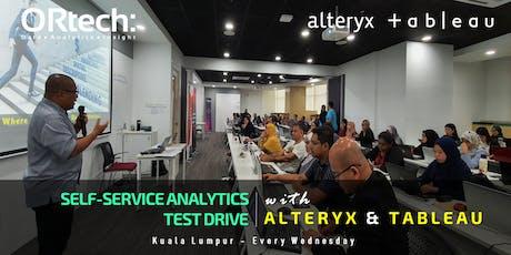 Self-Service Analytics Test Drive With Alteryx & Tableau tickets