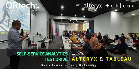 Self-Service Analytics Test Drive With Alteryx & Tableau tickets