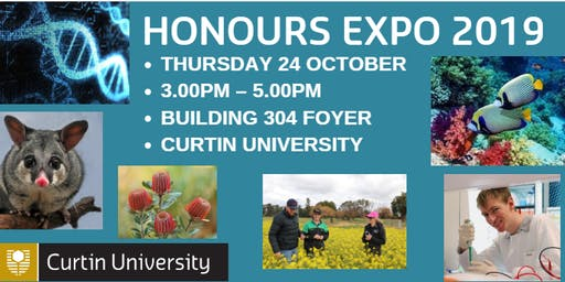 Honours Expo - with opportunities relating to agriculture and environment