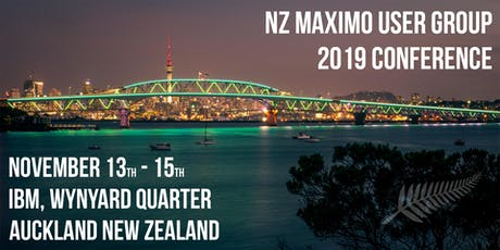 NZ Maximo User Group 2019 Conference tickets