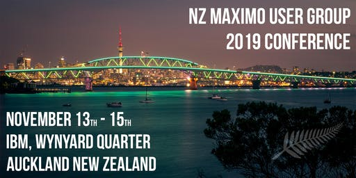 NZ Maximo User Group 2019 Conference