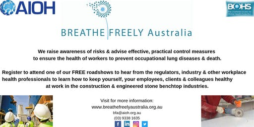Breathe Freely Australia: WA Silica + Construction roadshows (PERTH-NORTH)