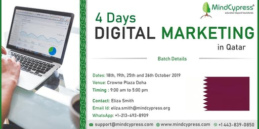 Digital Marketing 4 Days Training by MindCypress at Doha