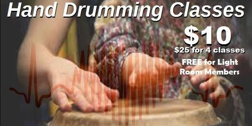 Contemporary Hand Drumming Classes at The Light Room