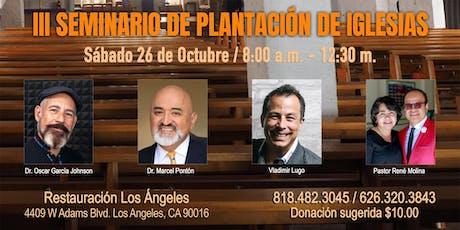 III Seminario de Plantación de Iglesias billets