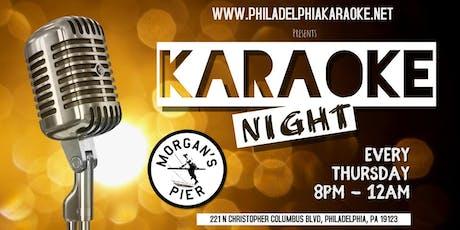 Thursday Karaoke at Morgan's Pier (Philadelphia) tickets