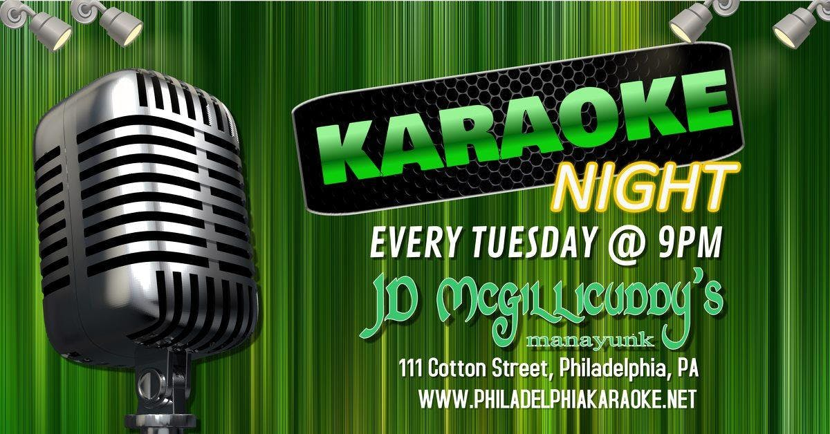 Tuesday Karaoke at JD McGillicuddy's (Manayunk | Philadelphia, PA)