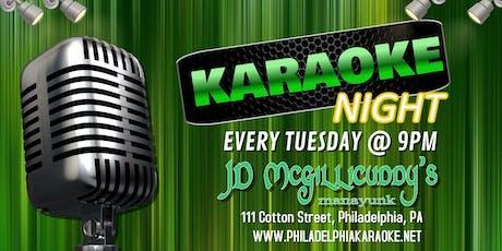 Tuesday Karaoke at JD McGillicuddy's (Manayunk | Philadelphia, PA) tickets