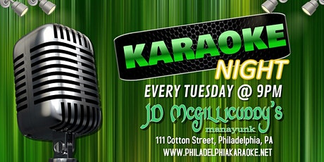 Tuesday Karaoke at JD McGillicuddy's (Manayunk | Philadelphia, PA) tickets