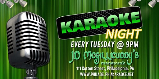 Tuesday Karaoke at JD McGillicuddy's (Manayunk | Philadelphia, PA)