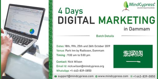 Digital Marketing 4 Days Training by MindCypress at Dammam, Saudi Arabia