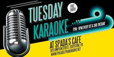 Tuesday Karaoke at Spada's Cafe (Eddystone   Delaware County, PA) tickets
