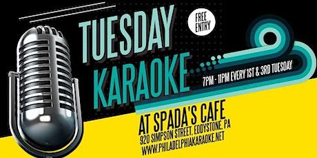 Tuesday Karaoke at Spada's Cafe (Eddystone | Delaware County, PA) tickets