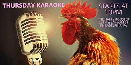 Thursday Karaoke at the Happy Rooster (Philadelphia) tickets