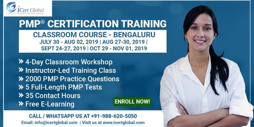 PMP® Certification Training Course in Bengaluru, KA, IND | 4-Day PMP Boot Camp