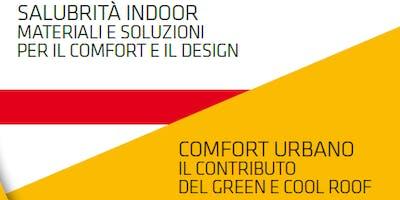 SALERNO - SUPERFICI ORIZZONTALI. Il contributo delle coperture e delle pavimentazioni al comfort ambientale e alla salubrità indoor