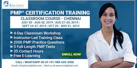 PMP® Certification Training Course in Chennai, TN, IND | 4-Day PMP Boot Camp  tickets