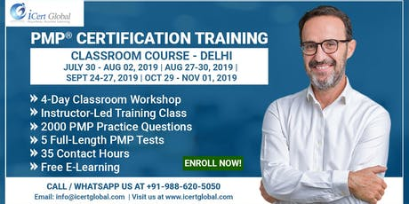 PMP® Certification Training Course in Delhi, IND | 4-Day PMP Boot Camp  tickets