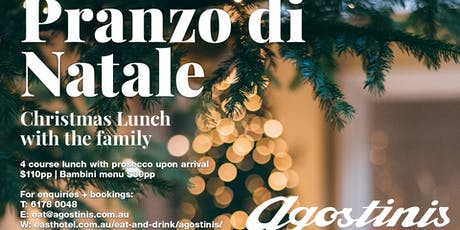 Christmas Italian Lunch tickets