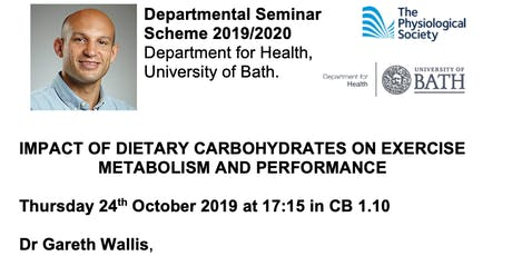 Dept for Health Physiological Society Seminar - Dr Gareth Wallis tickets