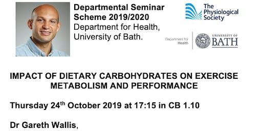Dept for Health Physiological Society Seminar - Dr Gareth Wallis