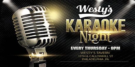 Thursday Karaoke at Westys Tavern (Philadelphia) tickets