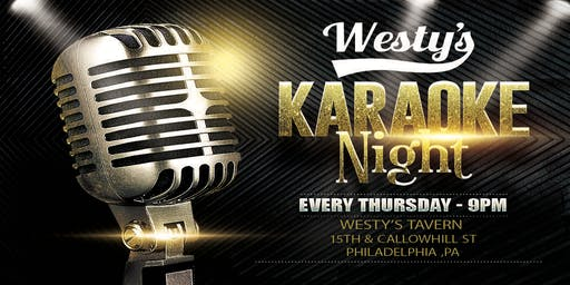 Thursday Karaoke at Westys Tavern (Philadelphia)