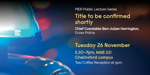 Chief Constable Ben-Julian Harrington, Essex Police. Title to be confirmed.