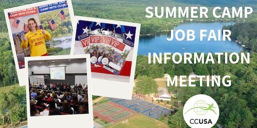 Sydney Camp Counselors & Job Fair Information Event