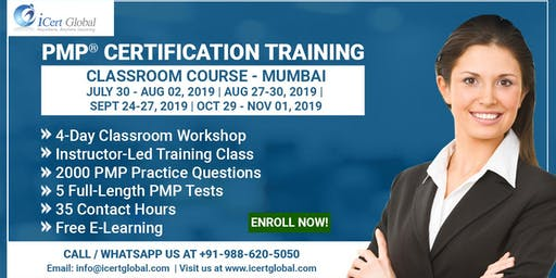 PMP® Certification Training Course in Mumbai, IND | 4-Day PMP Boot Camp