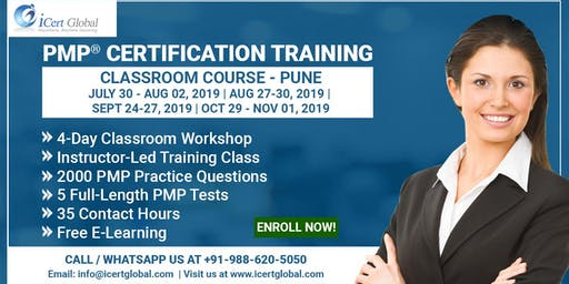 PMP® Certification Training Course in Pune, IND | 4-Day PMP Boot Camp