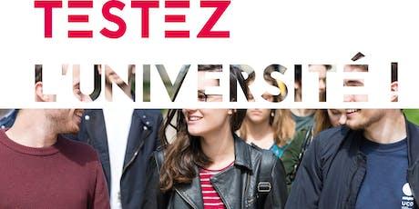 """""""TESTEZ L'UNIVERSITÉ"""" UCO ANGERS 22-23 et 24 OCTOBRE 2019 billets"""