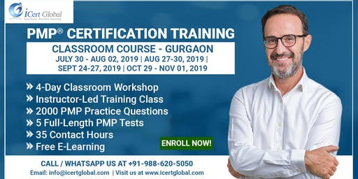 PMP® Certification Training Course in Gurgaon, IND | 4-Day PMP Boot Camp