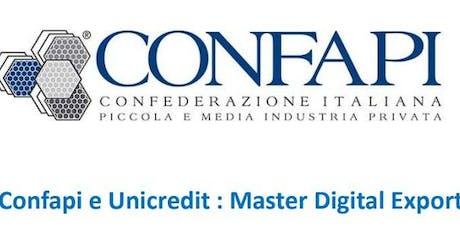 Master Digital & Export Business biglietti