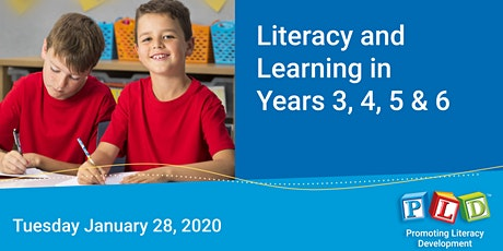 Literacy and Learning in Years 3 to 6 January 2020 tickets
