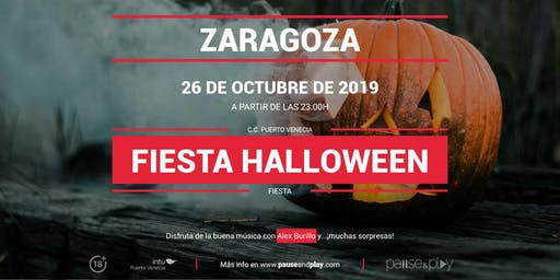 Fiesta Halloween con Alex Burillo en Pause&Play Puerto Venecia