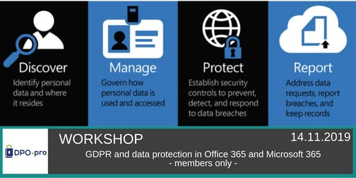 Workshop: GDPR en data protection in Office 365 en Microsoft 365