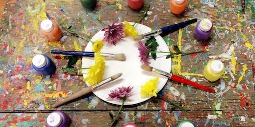 Canvas Hand & Footprints Class (Tuesday) - Age Group: 12 months + Oct 22nd
