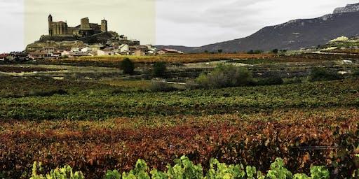 Catas en el Castillo de San Vicente de la Sonsierra, paisaje del otoño