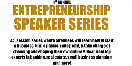 FREE! Entrepreneurship Speaker Series tickets