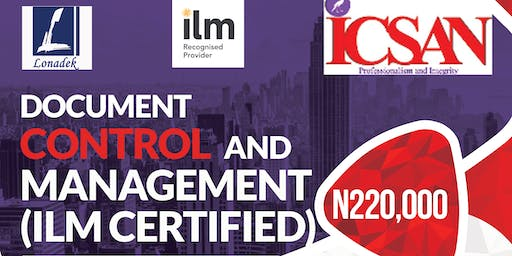 Document Control and Management (ILM Certified)