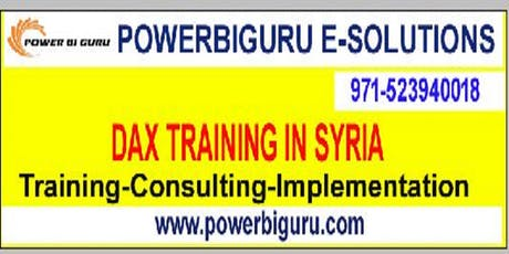 Microsoft DAX training in Syria,UAE tickets