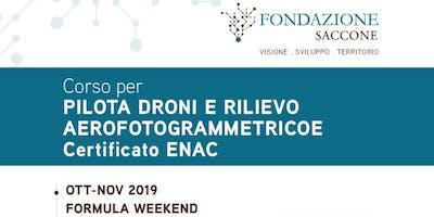 Corsi per Pilota Droni e Rilievo Aerofotogrammetrico Certificati ENAC