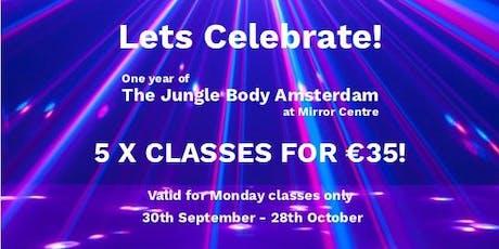 Lets Celebrate! - The Jungle Body Monday Promotion  tickets