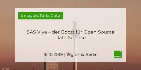 Angewandte Computer Vision & Open Source unter Viya in der Praxis (Berlin) Tickets