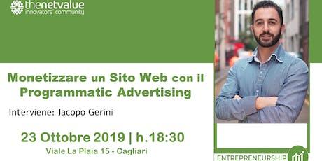 Monetizzare un Sito Web con il Programmatic Advertising biglietti