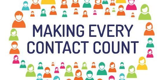 Making Every Contact Count (Boston, afternoons, 20 & 27 Nov)