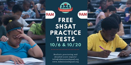 FREE Diagnostic SHSAT with AdmissionSquad in October (Updated Exam) tickets